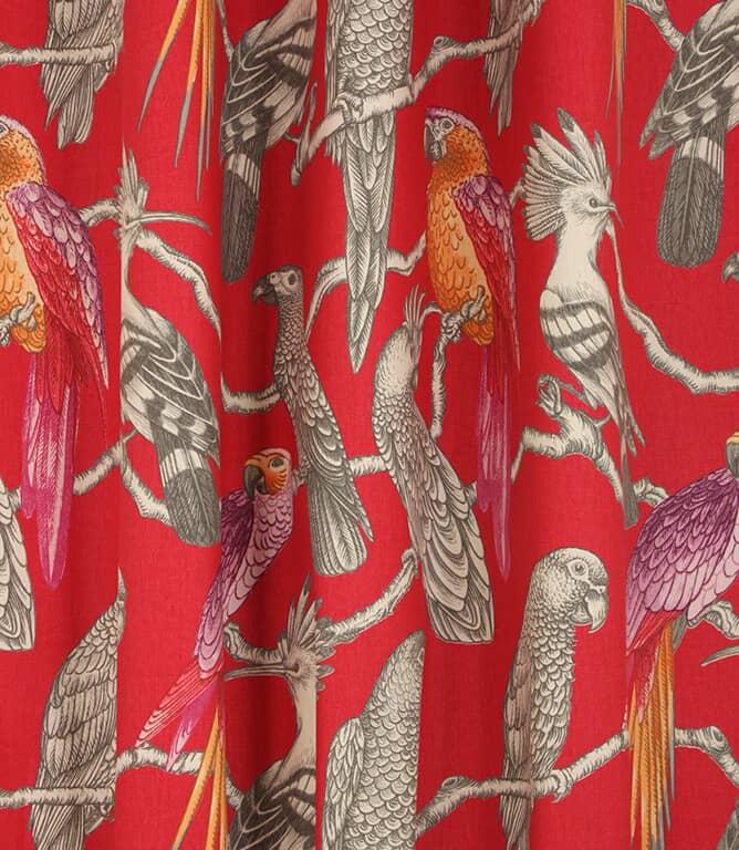 Aviary Fabric / Pomegranate