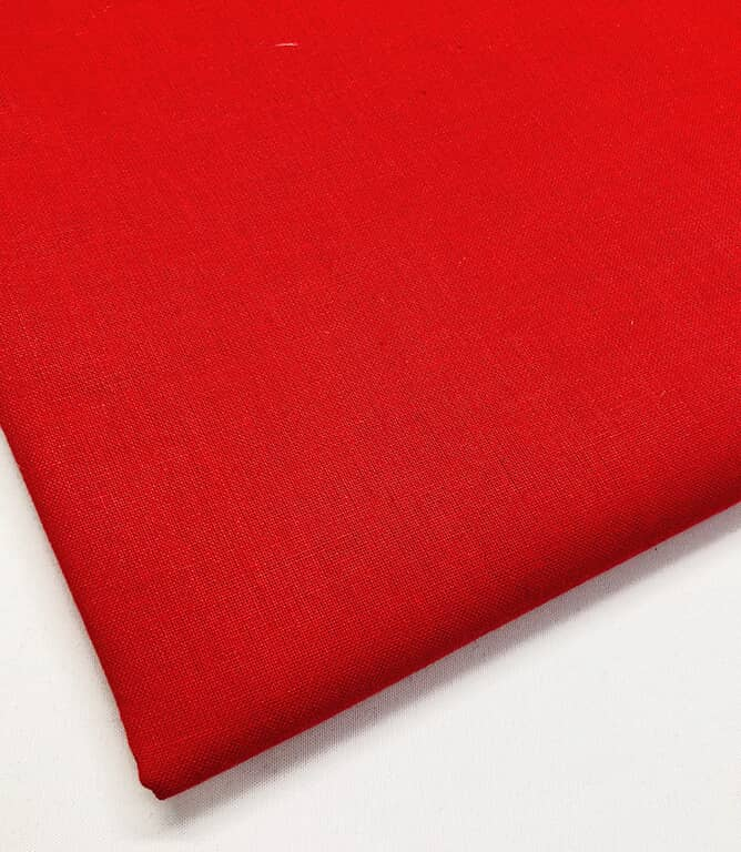 Craft Plain Fabric / Red
