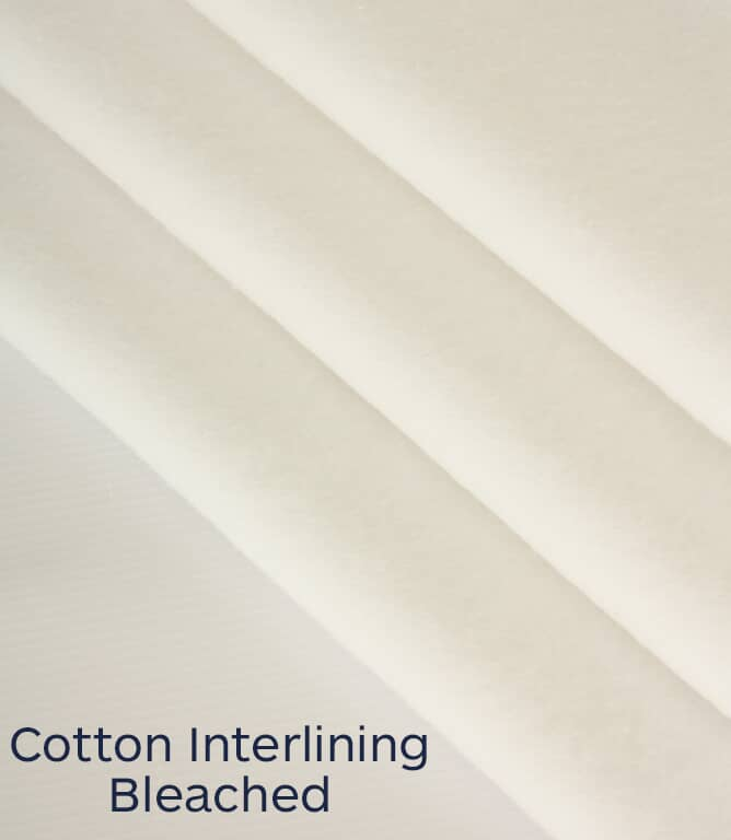 Cotton Interlining Fabric / Bleached