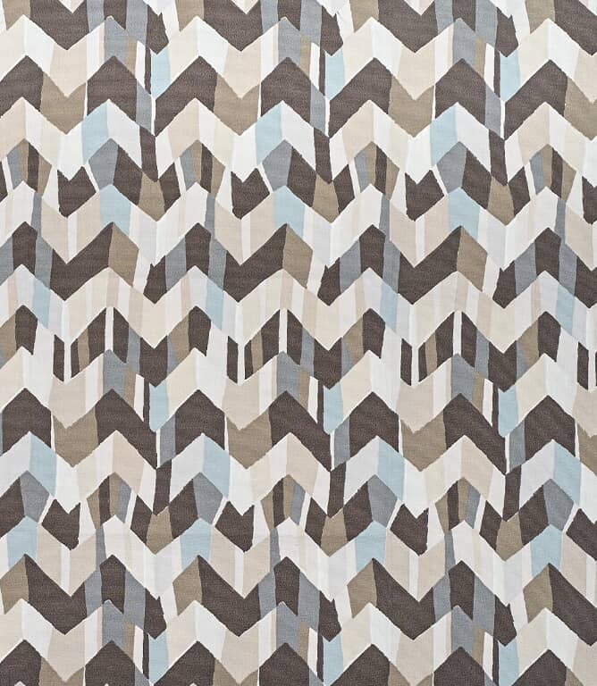 Zig Zag Outdoor Fabric / Neutral