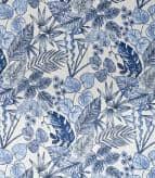 Botanical Outdoor Fabric / Indigo