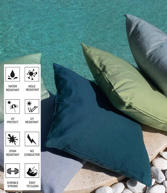 Salcombe Outdoor Fabric / Menta
