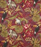 Rainforest / Cranberry Fabric