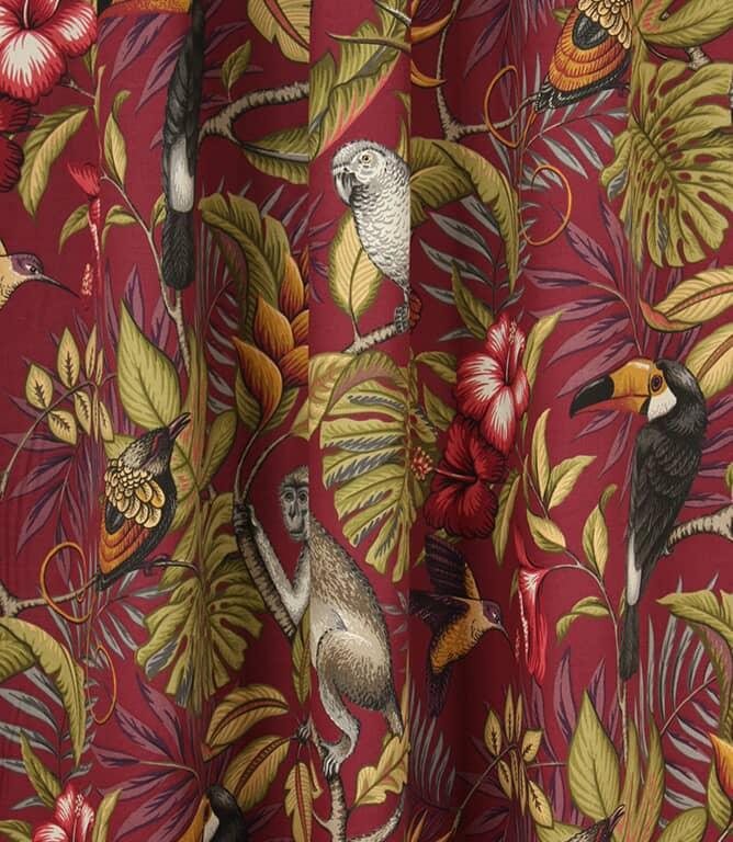 Rainforest Fabric / Cranberry