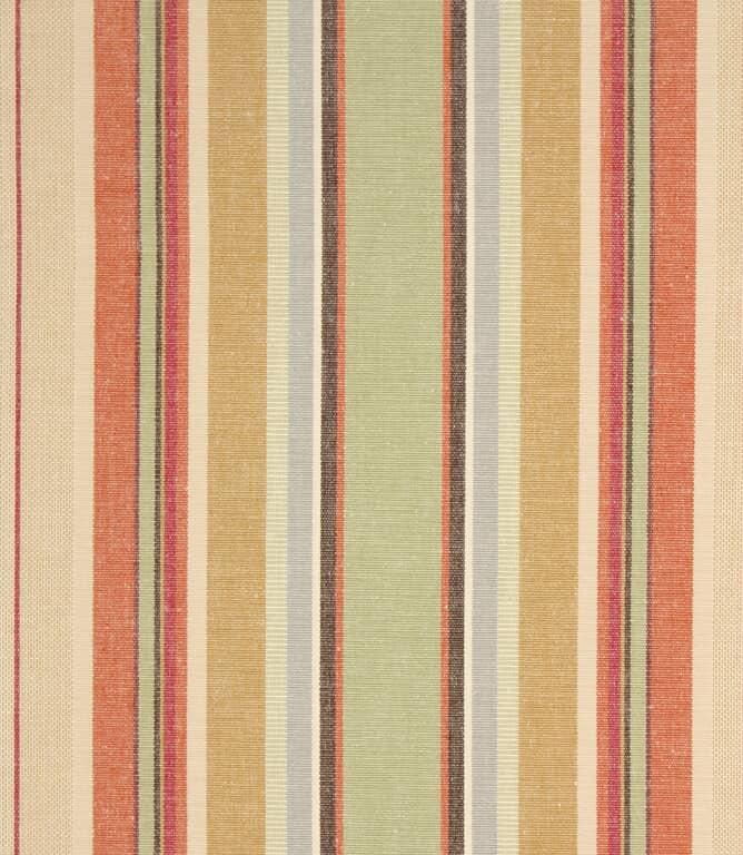 Falmouth Stripe Fabric / Brick