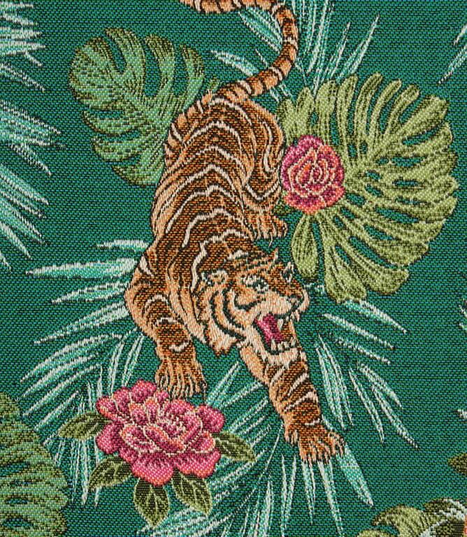 Crouching Tiger Fabric / Emerald