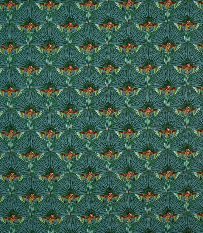 Emerald Parrot Paradise  Fabric