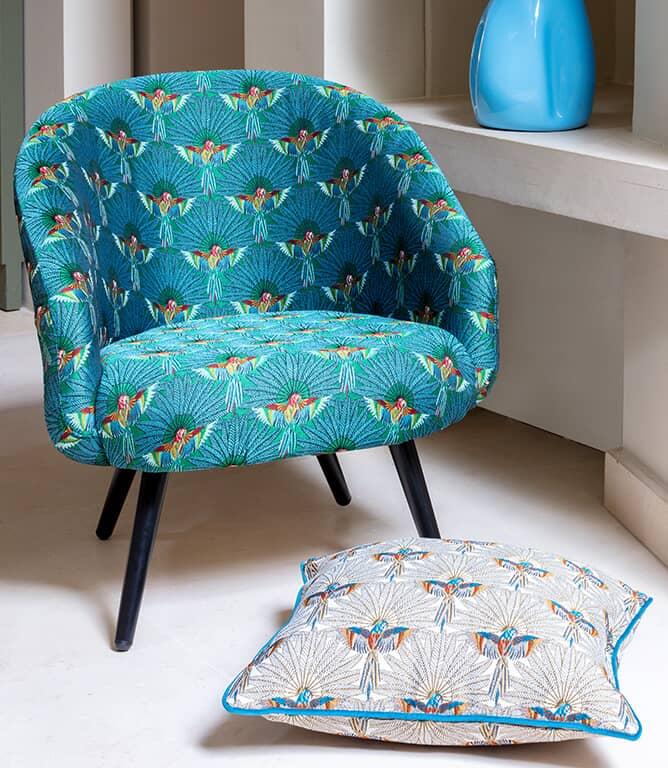 Parrot Paradise  Fabric / Emerald