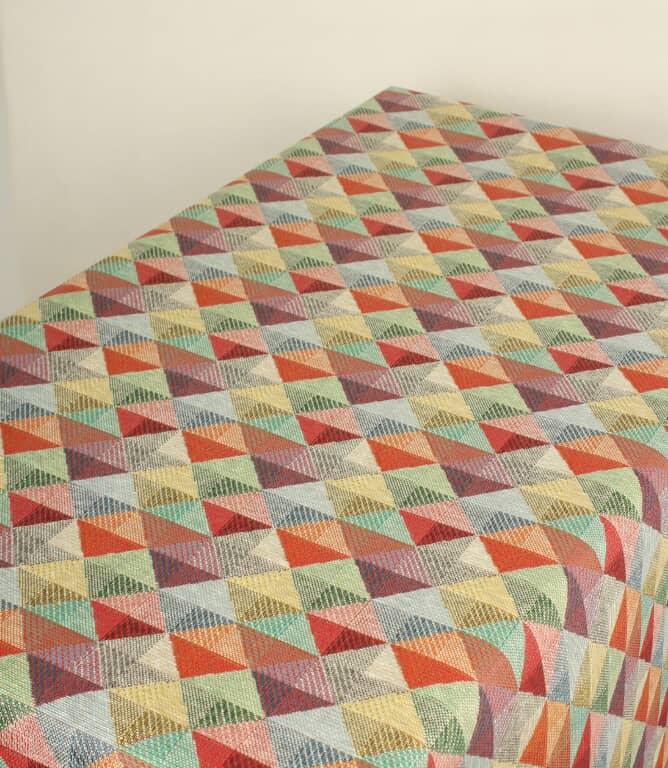JF Geo Acrylic Tablecloth Fabric / Multi