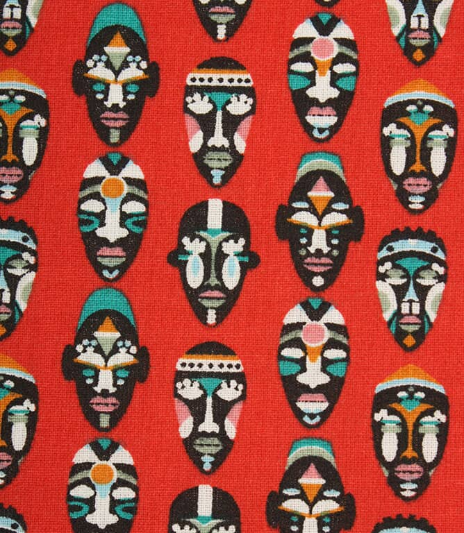 Warrior Mask Fabric / Rouge