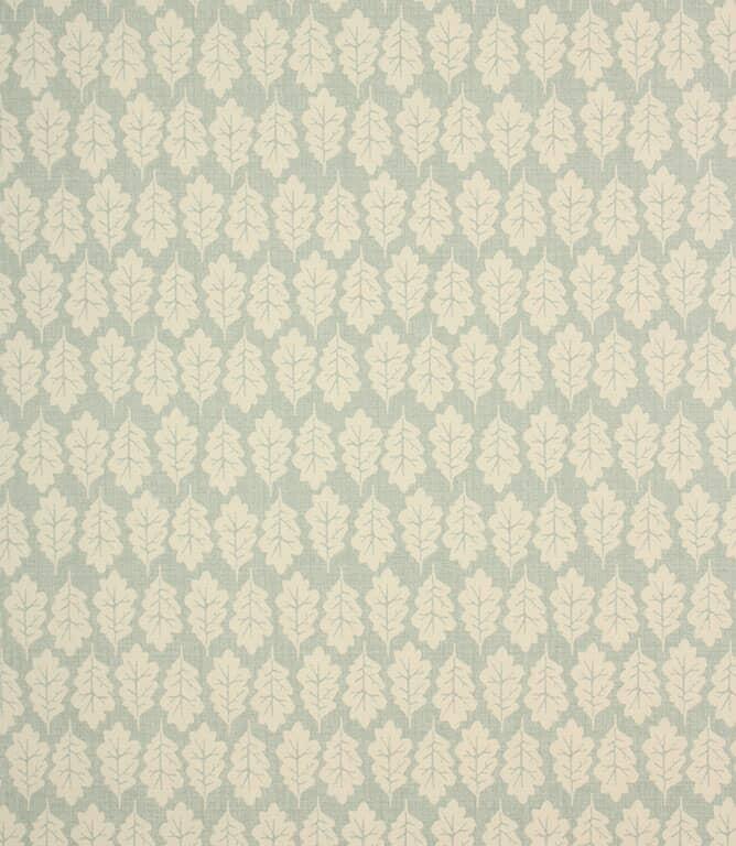 Duck Egg Oak Leaf Fabric