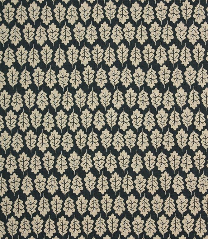Midnight Oak Leaf Fabric