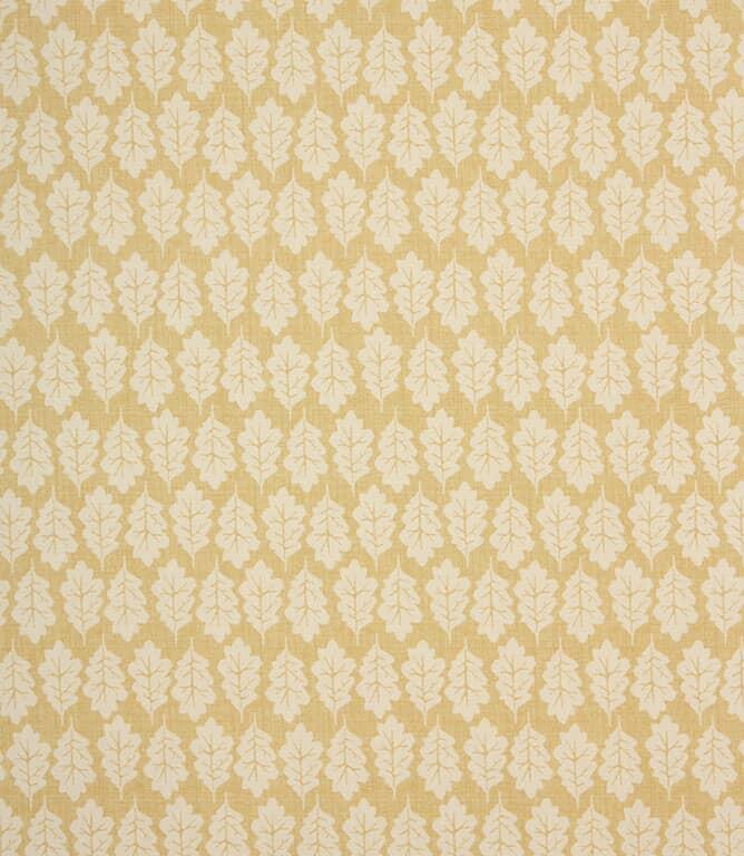 Ochre Oak Leaf Fabric