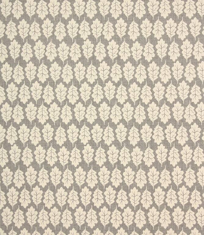 Pewter Oak Leaf Fabric