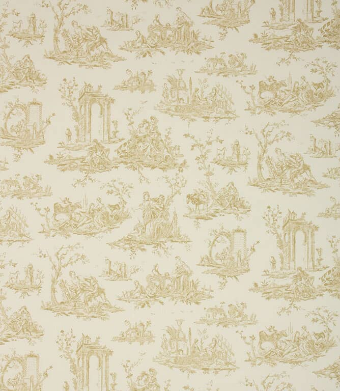 Soft Gold French Toile Fabric