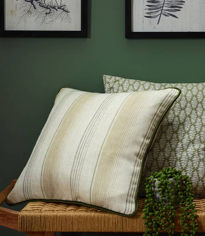 iLiv Sackville Stripe Fabric / Fern